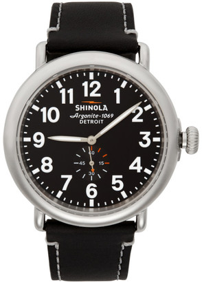Shinola Silver and Black The Runwell 47mm Watch