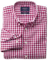 Charles Tyrwhitt Classic fit non-iron poplin red check shirt