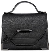 Mackage Keeley Structured Leather Shoulder Bag In Black