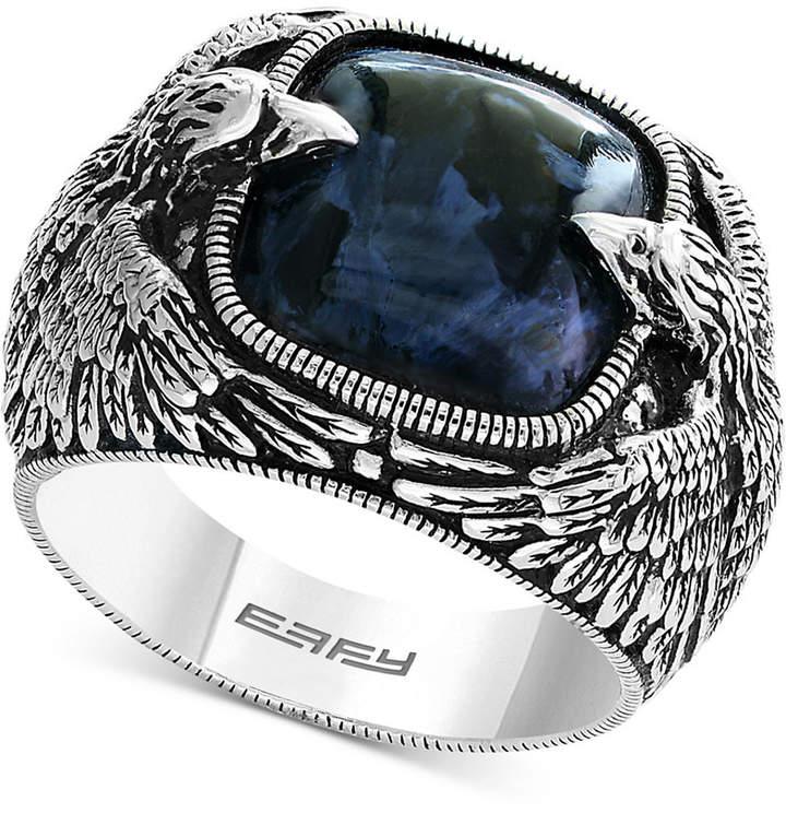 Effy Men's Pietersite Double Eagle Ring in Sterling Silver