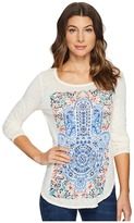 Lucky Brand Watercolor Hamsa Top Women's Clothing