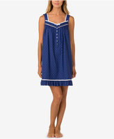 Eileen West Ribbon-Trimmed Printed Cotton Nightgown