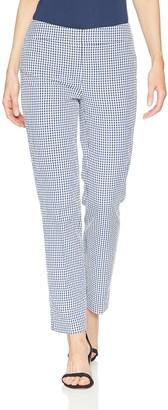 Nine West Women's Gingham Line Skinny Pant