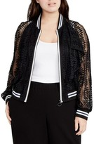Rachel Roy Plus Size Women's Lace Bomber Jacket