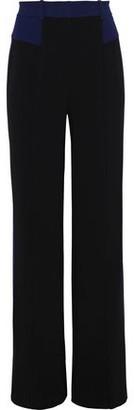 Diane von Furstenberg Liberty Two-tone Cady Wide-leg Pants