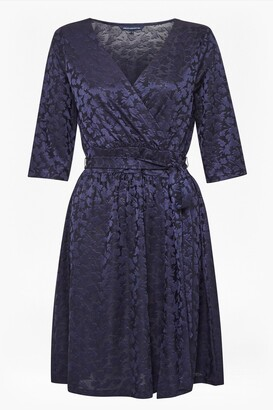 French Connection Tallis Jacquard Jersey Dress