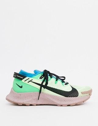 Nike Running Pegasus Trail 2 trainers in green