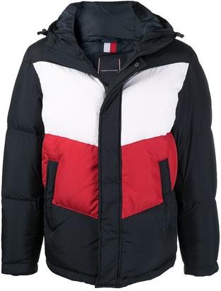Tommy Hilfiger Colour-Block Puffer Coat