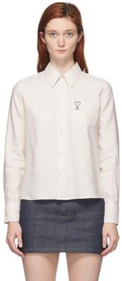 Ami Alexandre Mattiussi Off-White Ami De Coeur Pocket Shirt