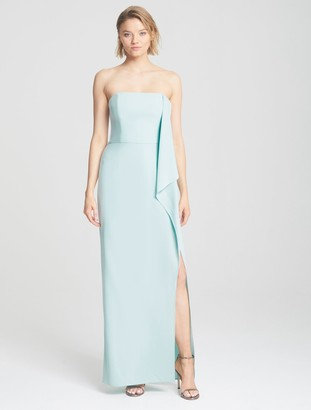 Halston Draped Cape Gown