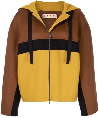 Marni oversized hooded jacket