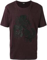 The Kooples flaming skull T-shirt - men - Cotton - XS