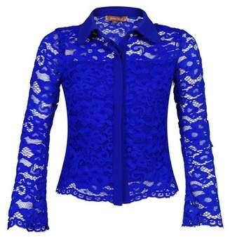 Dorothy Perkins Womens *Jolie Moi Royal Blue Lace Blouse, Royal Blue