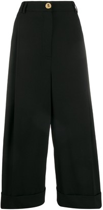 Escada Wide-Leg Cropped Tailored Trousers