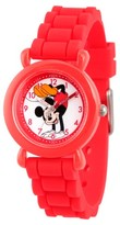Disney Girls' Minnie Mouse Red Plastic Time Teacher Watch - Red