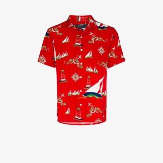 Polo Ralph Lauren Boat Print Short Sleeve Shirt