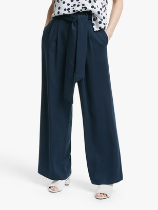 Mother of Pearl Tencel Belted Trousers, Navy