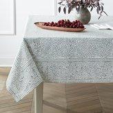 Crate & Barrel Mara Sage Tablecloth