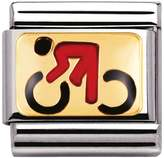 Nomination Steel & 18ct Yellow Gold Cycling Charm 030203/06