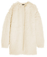 J.Crew Bouclé-knit Coat - Cream