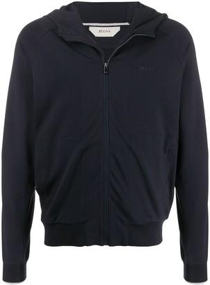 Ermenegildo Zegna Long Sleeve Zip Collar Sweater