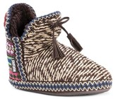 Muk Luks Women's Amira Fair Isle Knit Bootie Slippers