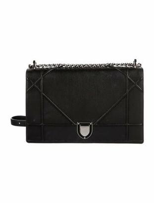 Christian Dior Large Diorama Shoulder Bag Black