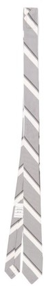 Thom Browne Striped Wool-blend Twill Tie - Grey
