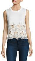 Alice + Olivia Somer Lace Hem Shell