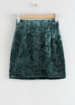 And other stories Fitted Velour Mini Skirt