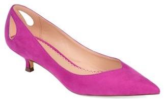 Brinley Co. Womens Heel Cut-out Kitten Heel Pump