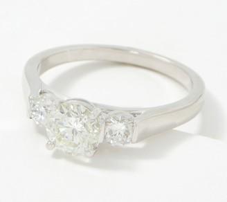 Fire Light Lab Grown Diamond 14K Gold 3-Stone Ring, 1.50cttw