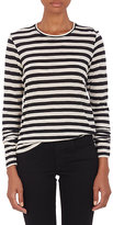 Proenza Schouler Women's Stripe Slub-Knit T-shirt-BLACK