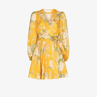 Zimmermann Amelie floral print linen mini dress