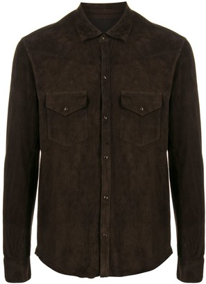 Tagliatore Suede Shirt Jacket