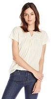 Lucky Brand Women's Embroidered T-Shirt Top
