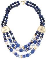 Akola 14MM-18MM Pearl & Glass Bead Triple-Strand Necklace