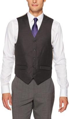 Steve Harvey Men's Solid Regular Fit Suit Seperate Vest