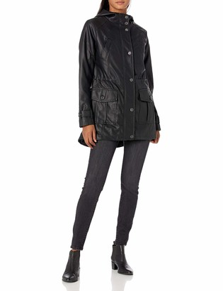 Urban Republic Women's Juniors Faux Leather Moto Jacket