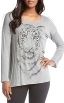 Karen Kane Women's Tiger Print Long Sleeve Tee