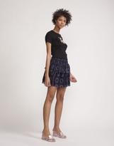Cynthia Rowley Printed Silk Tiered Skirt