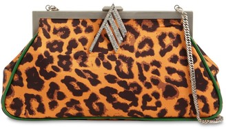 ATTICO Alma Leopard Print Shoulder Bag