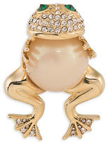 Carolee Night at the Museum Goldplated Frog Hugger Pin