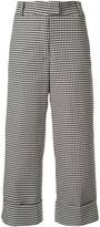 Silvia Tcherassi houndstooth cropped trousers