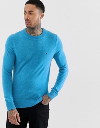 Tommy Hilfiger soft wool crew neck jumper-Blue
