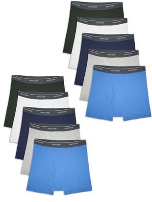 Fruit of the Loom Boys Underwear, 10 Pack Assorted Boxer Brief Underwear Sizes 6/8 - 18/20
