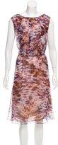 Escada Printed Silk Dress