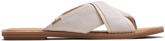 Toms Natural Shimmer Canvas Women's Viviana Sandals