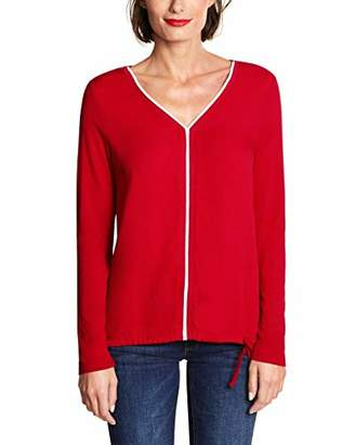 Street One Women's 3264 Ayla Long Sleeve Top, Red (Love Red 046), (Size: 38)