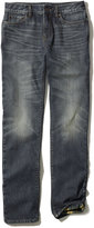 L.L. Bean Signature Five-Pocket Jeans, Flannel-Lined Slim Straight